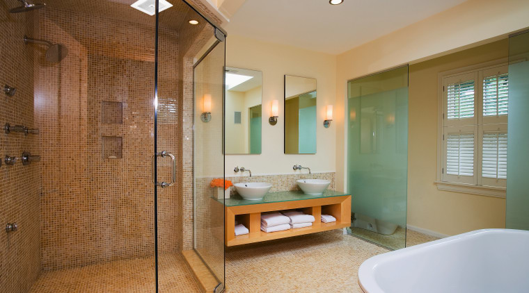 A view of this bathroom that feature the bathroom, ceiling, estate, floor, home, interior design, real estate, room, tile, brown, gray