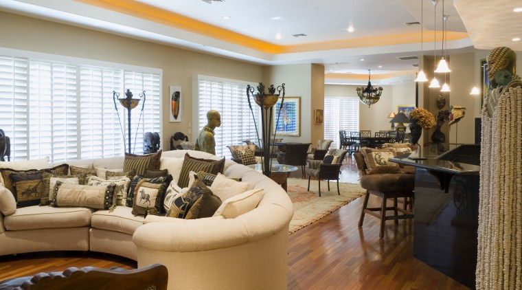 A view of the interior living, dining and ceiling, interior design, living room, lobby, real estate, room, brown