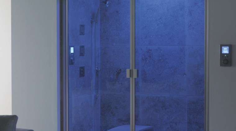 A view of these showers that feature the door, glass, interior design, plumbing fixture, window, blue, gray