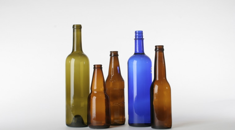 A view of some vanities from vetrazzo. beer bottle, bottle, drinkware, glass bottle, liqueur, product, product design, tableware, wine bottle, white