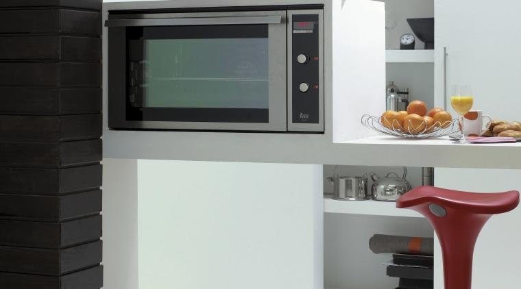 A view of some kitchen appliances by Teka furniture, home appliance, interior design, kitchen, product design, shelf, white