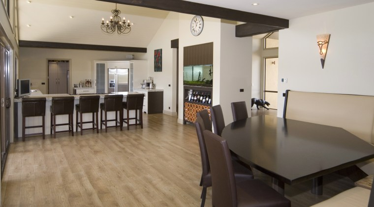 A view of some wooden flooring from Floorscape. dining room, floor, flooring, hardwood, interior design, living room, property, real estate, room, table, wood flooring, gray