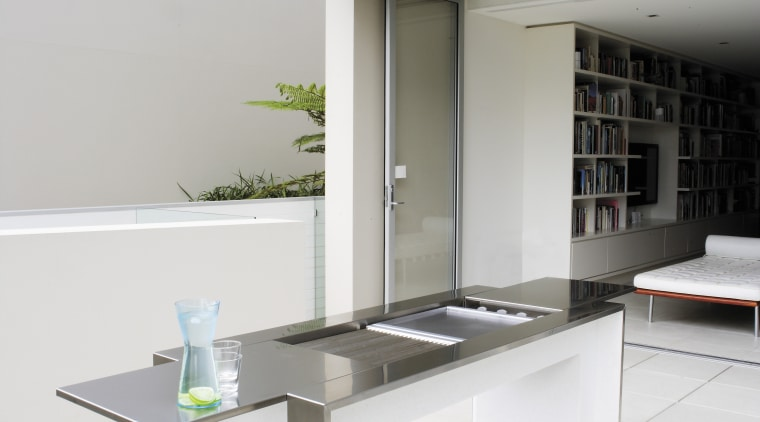 The Electrolux Jeppe Utzon's cooking surface and controls furniture, interior design, product design, table, white