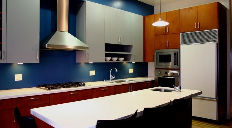 Contemporary kitchen silver maple cabinets cabinetry, countertop, interior design, kitchen, room