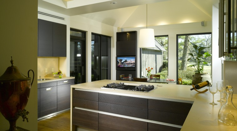 View of remodelled kitchen by SieMatic Atlanta. cabinetry, countertop, interior design, kitchen, real estate, room, brown