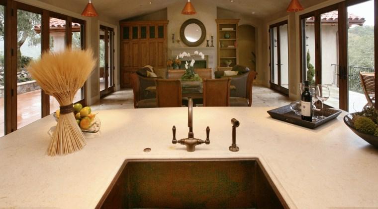 Limestone countertop countertop, estate, home, interior design, kitchen, living room, real estate, room, brown