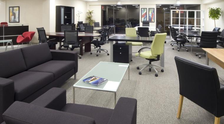 Office Furnitue showroom various floor, flooring, furniture, interior design, living room, office, gray, black
