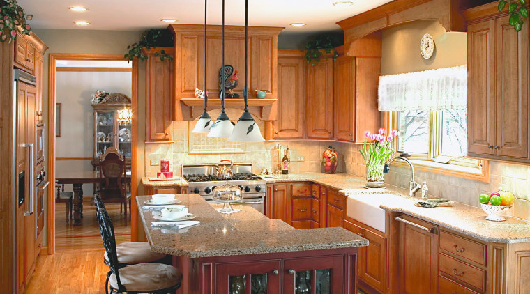 Finage cabintery Kitchen, with countertops, kitchen appliances, with cabinetry, countertop, cuisine classique, home, interior design, kitchen, room, brown