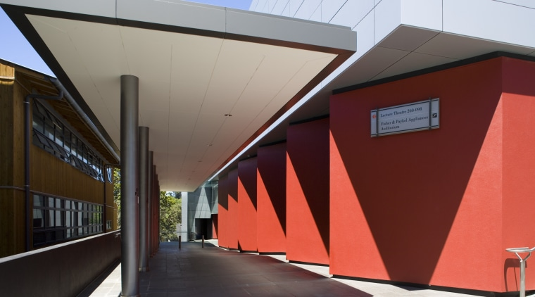 View of Resene Lumbersider in Dynamite on the architecture, building, facade, house, red