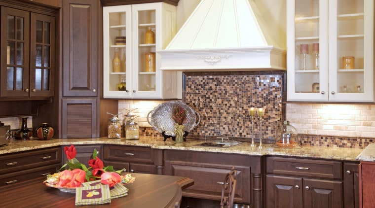 View of customised kitchens by Atlanta Kitchen and cabinetry, countertop, cuisine classique, home, interior design, kitchen, room, brown, white