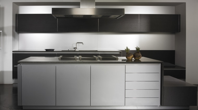 This Kitchen Cabinetry is from Metric Home and cabinetry, countertop, cuisine classique, furniture, home appliance, interior design, kitchen, kitchen stove, product design, sink, black, gray