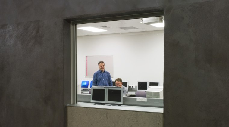 View of the School of Engineering and Technology, architecture, daylighting, wall, black