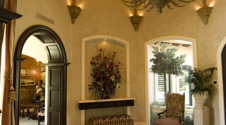 Interior Chandiler Jacqueline & Associates arch, ceiling, estate, home, interior design, lobby, brown