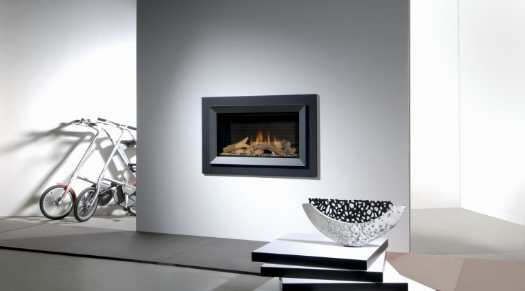 For ease of installation, Faber fires can be fireplace, hearth, heat, home appliance, product design, wood burning stove, white, gray