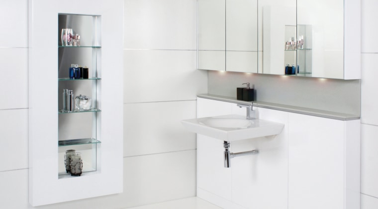The area 150 from Architectural Designer products combines angle, bathroom, bathroom accessory, bathroom cabinet, bathroom sink, plumbing fixture, product, product design, shelf, sink, tap, white