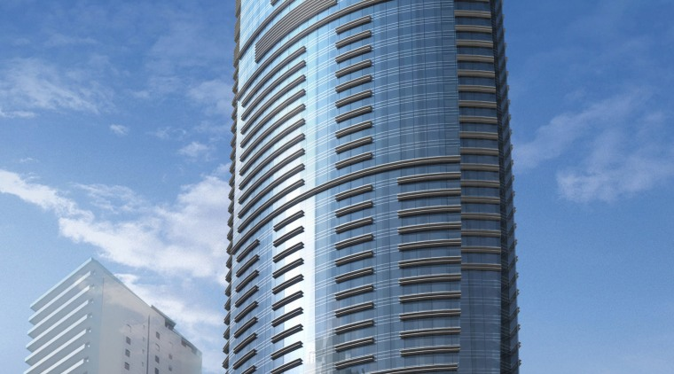 Images of the design of a 79-storey tower architecture, building, city, cityscape, commercial building, condominium, corporate headquarters, daytime, headquarters, landmark, metropolis, metropolitan area, mixed use, sky, skyline, skyscraper, tower, tower block, urban area, teal, blue