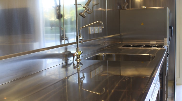 Burns & Ferrall specialises in commercial kitchen manufacture countertop, glass, interior design, kitchen, room, black, gray