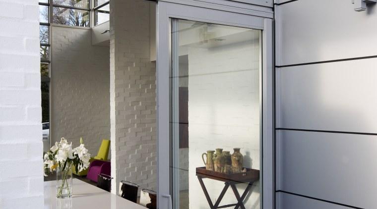 View of sliding doors from Able Aluminium. architecture, door, interior design, gray