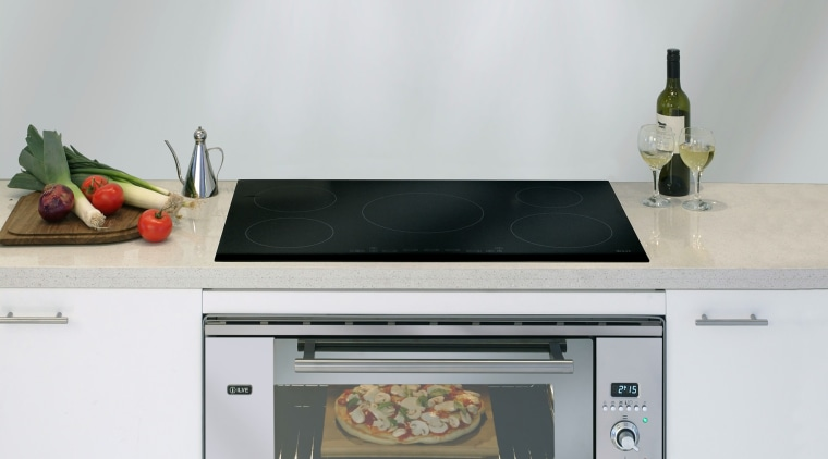 ILVE induction cooktop, hood and oven. countertop, gas stove, home appliance, kitchen, kitchen appliance, kitchen stove, microwave oven, oven, small appliance, white, gray