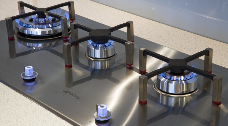 View of Smeg cooktop available from Applico. product, product design, technology, gray, black