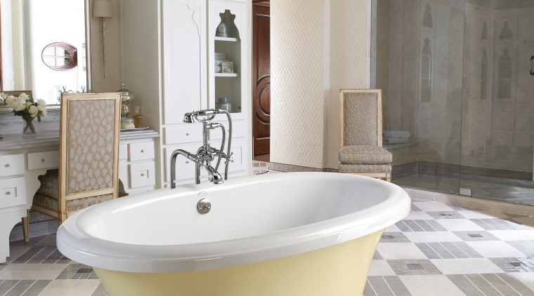 Image of bath tubs created by Aquatic Baths bathroom, ceramic, estate, floor, flooring, home, interior design, plumbing fixture, room, tap, tile, toilet seat, gray