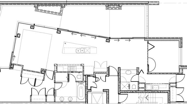 Image of the house plans. architecture, area, artwork, black and white, design, diagram, drawing, floor plan, line, line art, plan, product design, structure, technical drawing, white