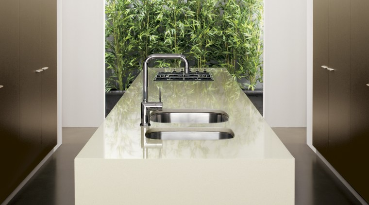 View of a kitchen which features surfaces from interior design, product design, sink, white