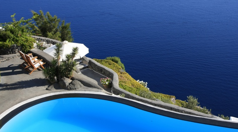 View of a pool which has the new coastal and oceanic landforms, sea, sky, swimming pool, tree, water, water resources, blue