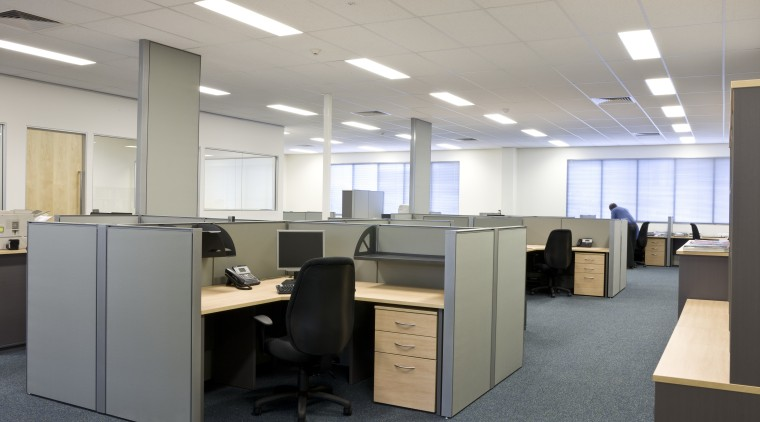 Image of desk and shelving supplied by The conference hall, desk, furniture, office, product design, gray