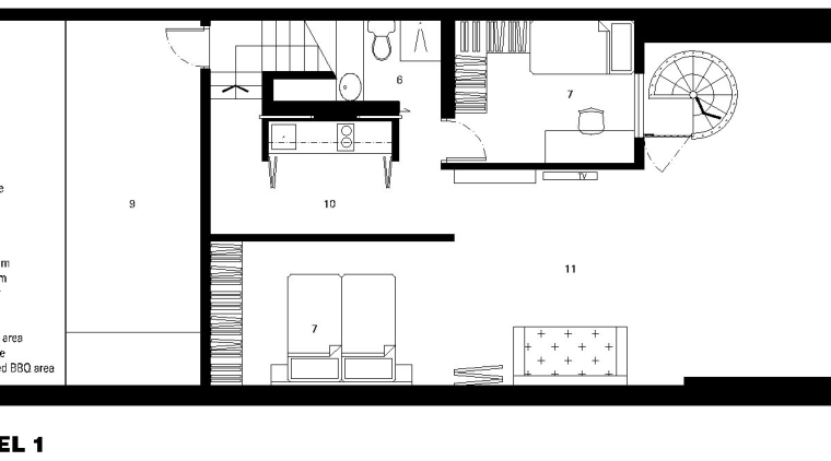 View of architectural plans designed by Ken Leung architecture, area, black and white, design, diagram, drawing, elevation, floor plan, font, line, monochrome, plan, product, product design, structure, text, white
