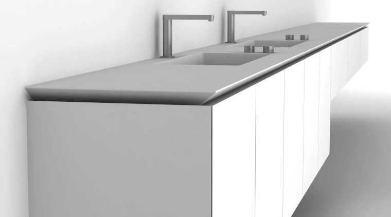 Image of bathroom designed by Architects and Designers angle, bathroom sink, plumbing fixture, product, product design, sink, tap, white