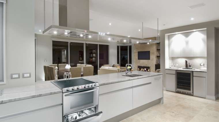 View of a kitchen which features the Candy cabinetry, countertop, cuisine classique, interior design, kitchen, real estate, room, gray