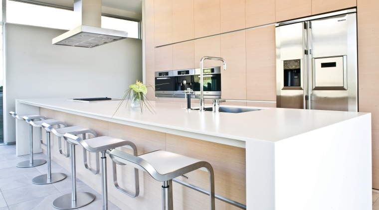 View of a kitchen designed by NKBA designer countertop, interior design, kitchen, product design, real estate, white