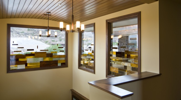 Interior view of this home built by Sun interior design, window, brown