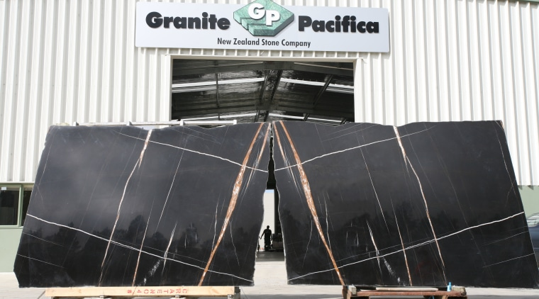 View marble slabs at the Granite Pacifica factory. structure, technology, white, black