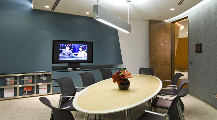 View of a casual meeting area featuring furnishings, conference hall, interior design, office, gray