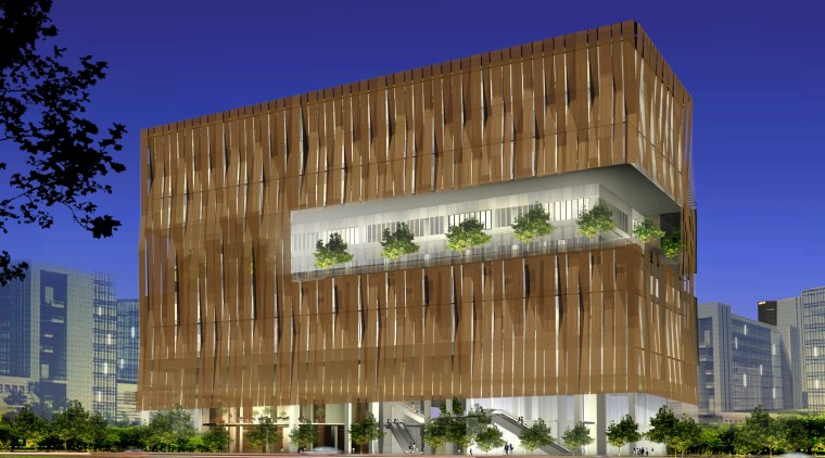 Image of the conceptual drawings for the National architecture, building, commercial building, corporate headquarters, daytime, elevation, facade, headquarters, house, landmark, mixed use, real estate, residential area, sky, brown, blue
