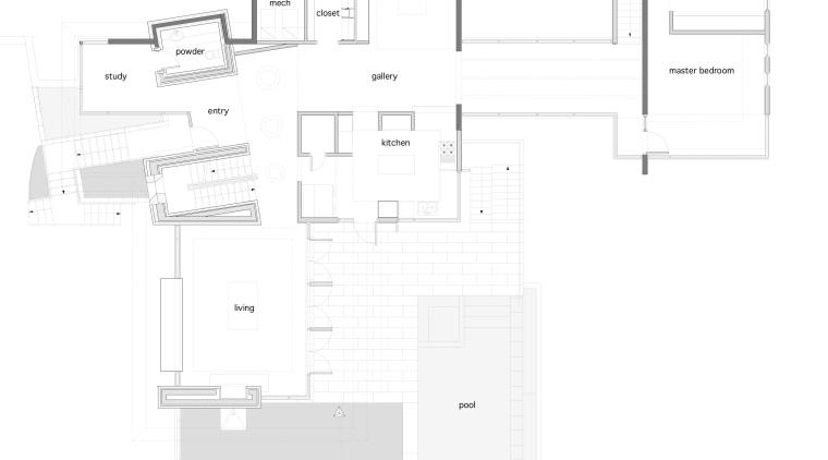 Contemporary home features unique design & architecture angle, architecture, area, design, diagram, drawing, floor plan, line, plan, product, product design, schematic, structure, text, white