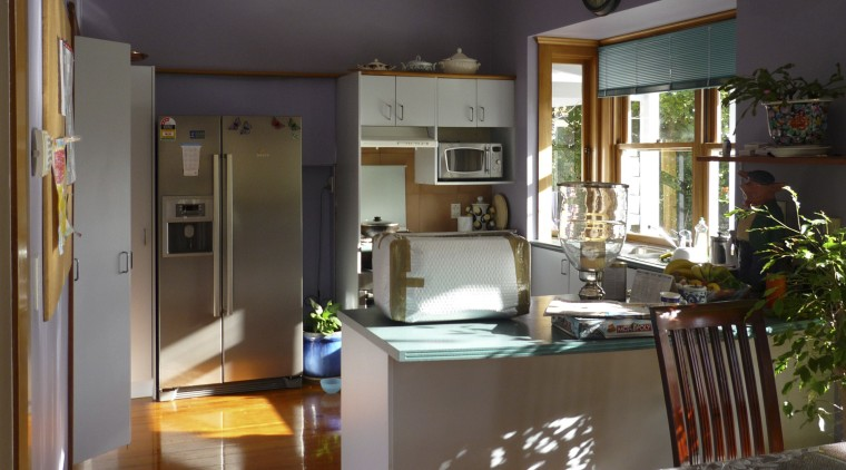 Details such as the round sink and traditionally countertop, home, house, interior design, kitchen, living room, real estate, room, black, brown
