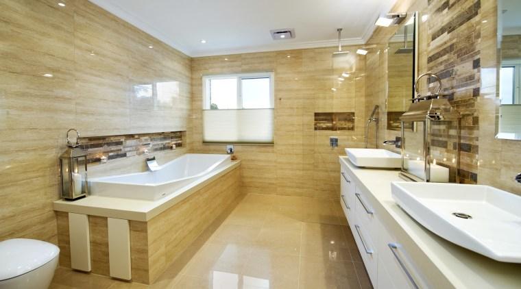 Overview of this natural colour bathroom bathroom, estate, floor, flooring, interior design, real estate, room, tile, orange