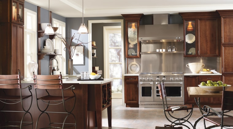 View of kitchen featuring Decora custom made and cabinetry, countertop, cuisine classique, furniture, interior design, kitchen, room, table, white