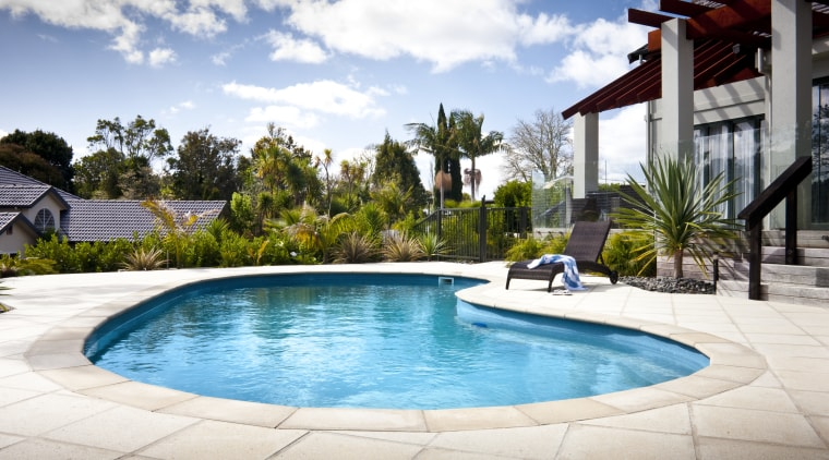 view of a pool area which features a estate, home, house, leisure, property, real estate, resort, swimming pool, vacation, villa, white