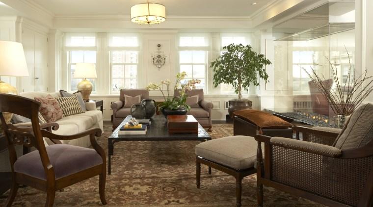 Interior view of this traditional lounge ceiling, floor, flooring, furniture, hardwood, home, interior design, living room, lobby, real estate, room, window, brown, orange