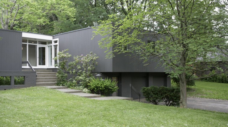 Exterior view after decorating architecture, backyard, cottage, courtyard, estate, facade, farmhouse, garden, grass, home, house, landscape, lawn, outdoor structure, property, real estate, residential area, shed, siding, tree, yard, green