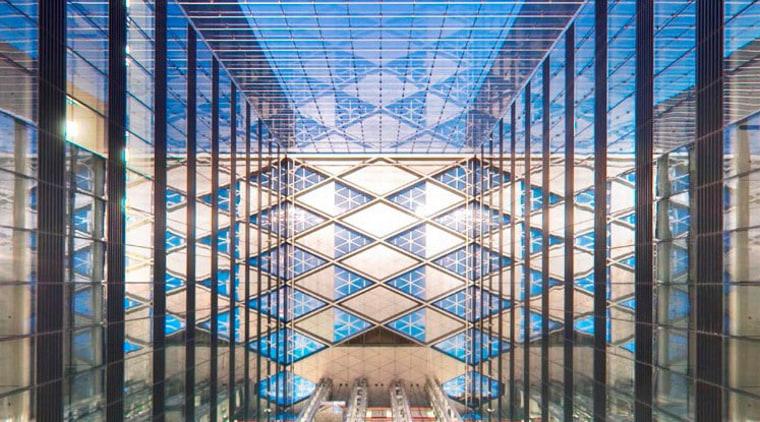 China Diamond Exchange Center building, daylighting, facade, metropolis, metropolitan area, structure, teal