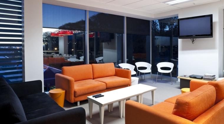 Lounge area with modern furniture interior design, living room, real estate, black