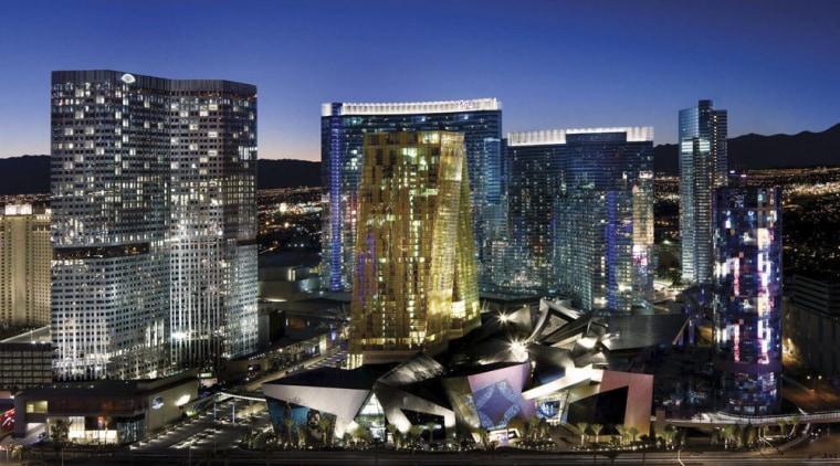 CityCenter, Las Vegas building, city, cityscape, commercial building, condominium, downtown, hotel, landmark, metropolis, metropolitan area, mixed use, night, skyline, skyscraper, tower block, urban area, blue, black