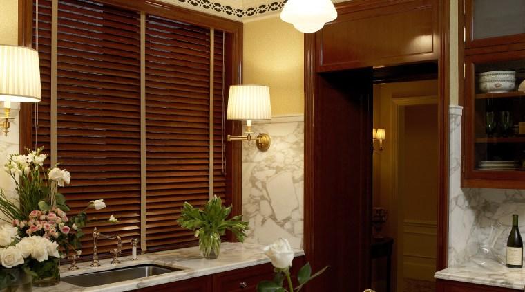 Luxury kitchen by Noel Jeffrey, The Jeffrey Design ceiling, dining room, home, interior design, light fixture, lighting, room, table, window, orange