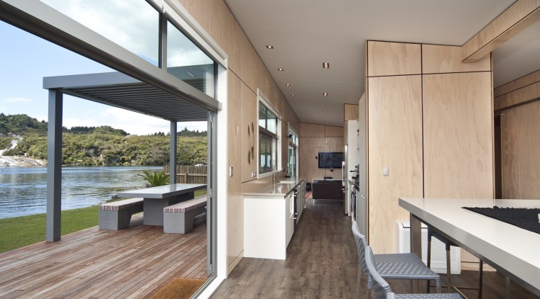 View of the large entrance doors and hallway architecture, floor, house, interior design, real estate, window, wood, gray