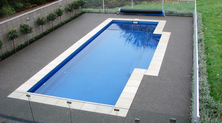 View of fibreglass pool by Laguna Pools NZ daylighting, leisure, swimming pool, water, water resources, gray